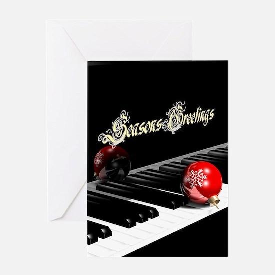 Concert Piano Seasons Greetings, Greeting Cards