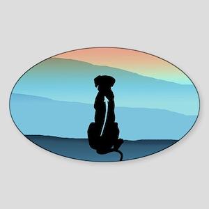 Blue Mt Ridgeback Sticker (Oval)