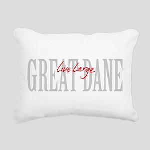 Great Dane Live Large Rectangular Canvas Pillow