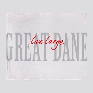 Great Dane Live Large Throw Blanket