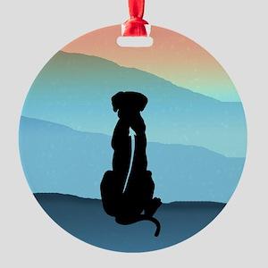 Blue Mt Ridgeback Round Ornament