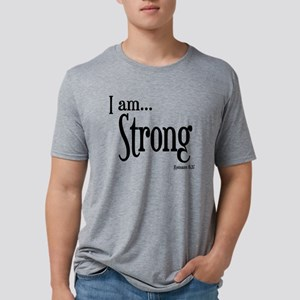 I am Strong Romans 8:37 Mens Tri-blend T-Shirt