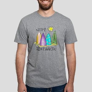 montauk surfing Mens Tri-blend T-Shirt