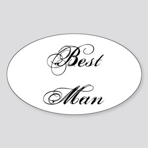 Best Man Sticker (Oval)