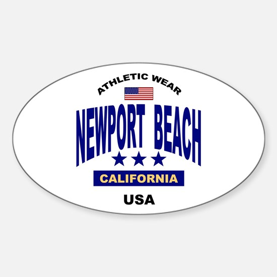 Newport Beach Oval Decal