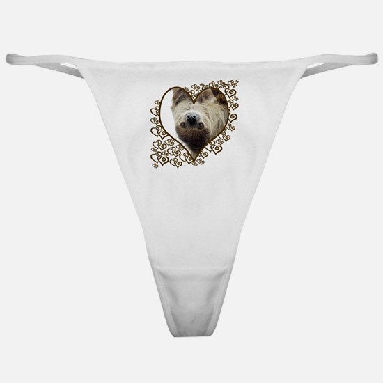 Sloth Swirling Hearts Classic Thong