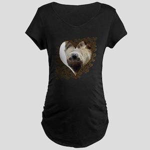 Sloth Swirling Hearts Maternity Dark T-Shirt