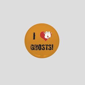 I Love Ghosts Mini Button