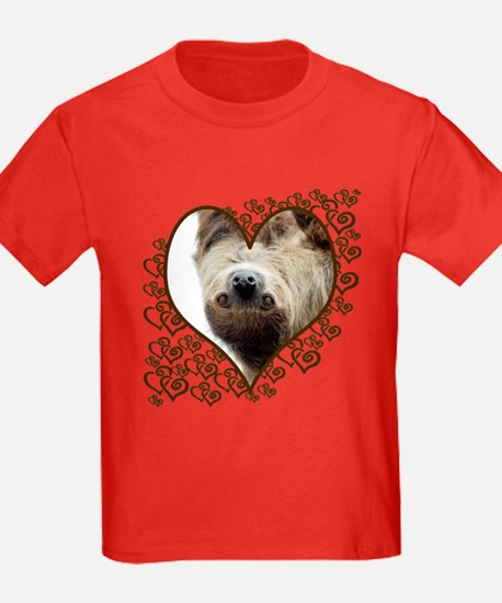 Sloth Swirling Hearts T