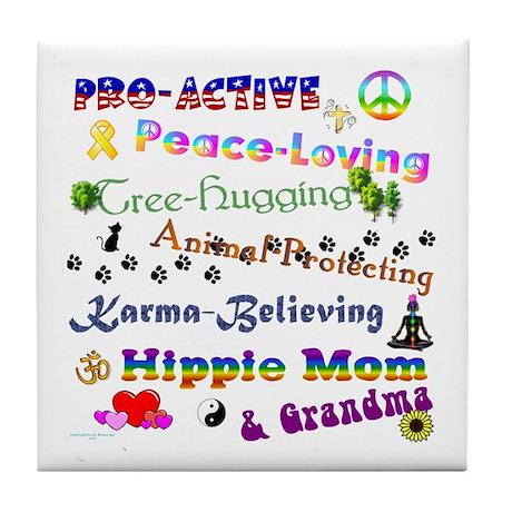 HippieGrandma Tile Coaster