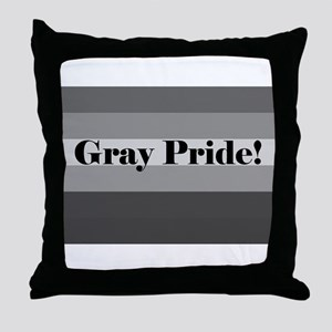 """Gray Pride"" Throw Pillow"