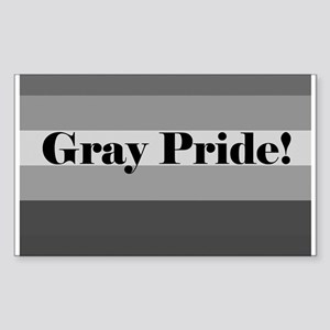 """Gray Pride"" Rectangle Sticker"
