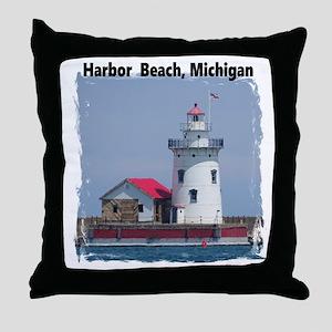 Harbor Beach Throw Pillow