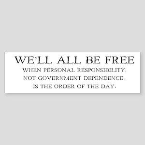 Personal Responsibility Bumper Sticker