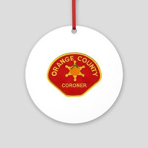Orange County Coroner Ornament (Round)