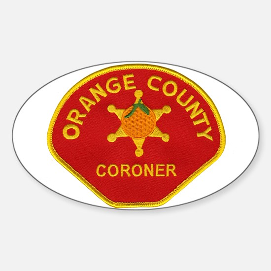 Orange County Coroner Sticker (Oval)