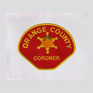 Orange County Coroner Throw Blanket