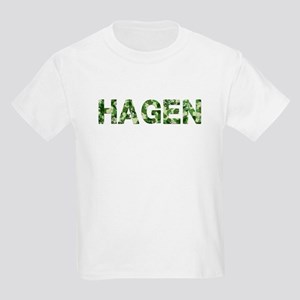 Hagen, Vintage Camo, Kids Light T-Shirt