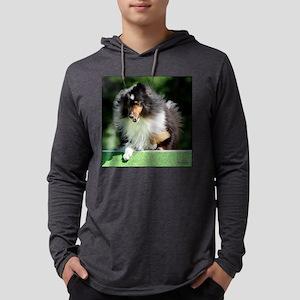 Shetland Sheepdog Agility Mens Hooded Shirt