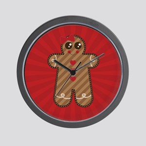 Gingerbread Girl #3 Wall Clock