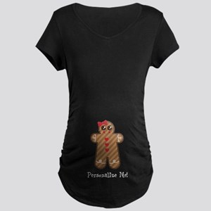 Gingerbread Girl #3 Maternity Dark T-Shirt
