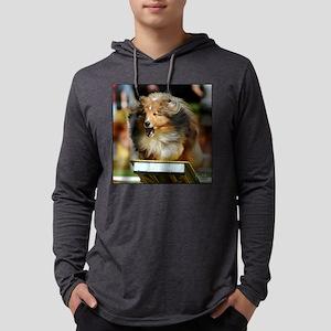Shetland Sheepdog Radar Mens Hooded Shirt