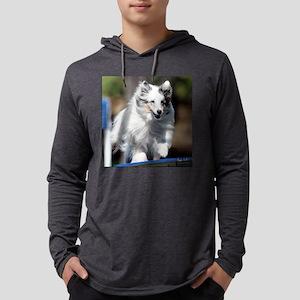 Shetland Sheepdog Agility Campbe Mens Hooded Shirt