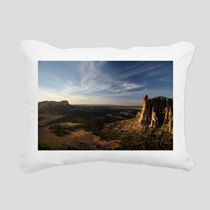 The Sawtooth Mountains at Sunset Rectangular Canva