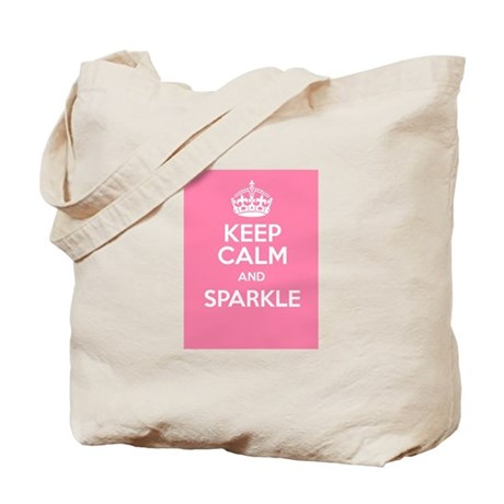 Keep Calm and Sparkle Tote Bag