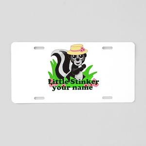 Personalized Little Stinker (Girl) Aluminum Licens