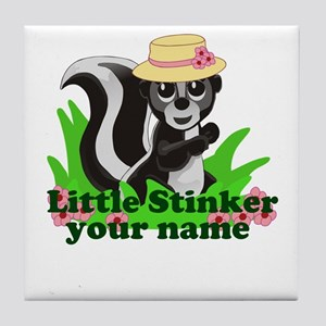 Personalized Little Stinker (Girl) Tile Coaster