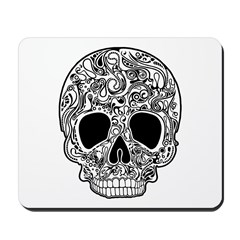 Psychedelic Skull White Mousepad
