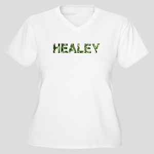 Healey, Vintage Camo, Women's Plus Size V-Neck T-S