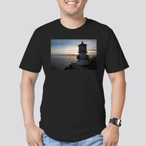 Point Reyes Lighthouse Men's Fitted T-Shirt (dark)