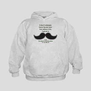 Mustache Saying Kids Hoodie
