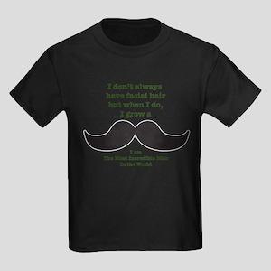 Mustache Saying Kids Dark T-Shirt