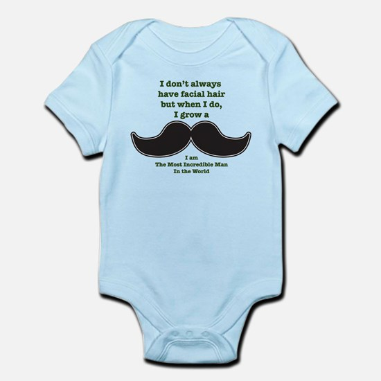 Mustache Saying Infant Bodysuit