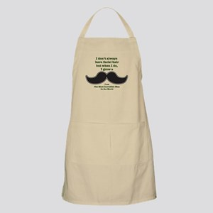Mustache Saying Apron