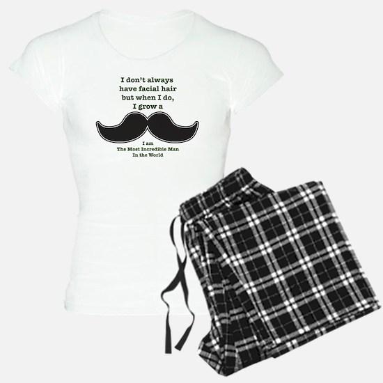 Mustache Saying Pajamas
