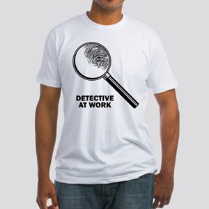 Detective At Work Fitted T-Shirt