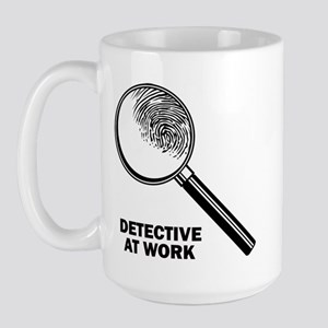 Detective At Work Large Mug