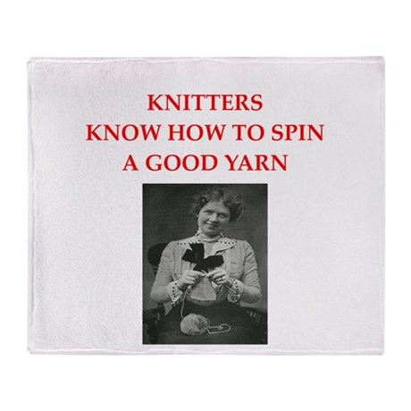 knitters Throw Blanket