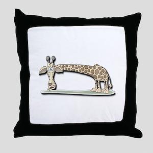 Funny Giraffe Throw Pillow