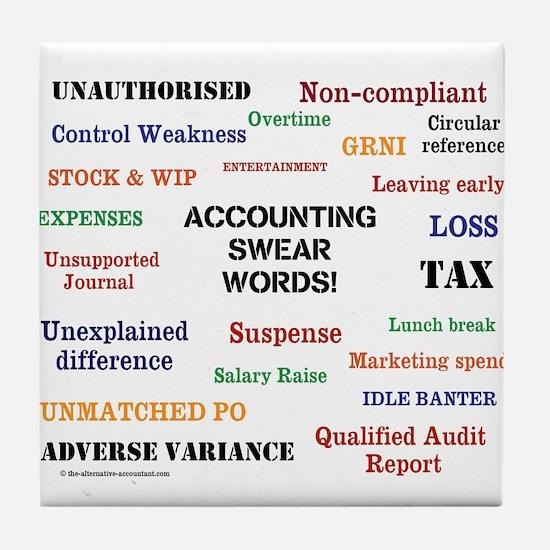Unique Accountant funny Tile Coaster
