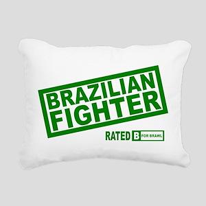 Brazilian Fighter Rectangular Canvas Pillow