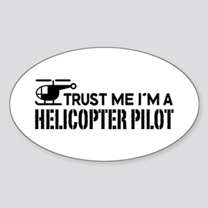 Helicopter Pilot Sticker (Oval)