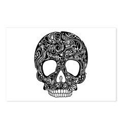 Psychedelic Skull Black Postcards (Package of 8)