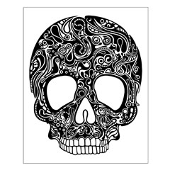 Psychedelic Skull Black Posters