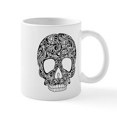 Psychedelic Skull Black Mug