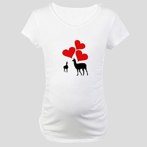 Hearts & Llamas Maternity T-Shirt